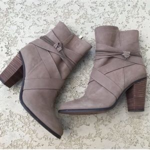 VINCE CAMUTO Taupe Brown Booties With Heels Size 8